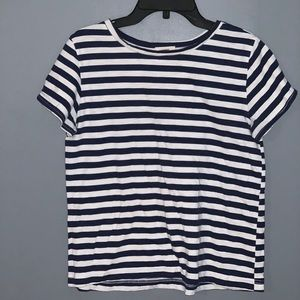 Navy and White Striped T-shirt